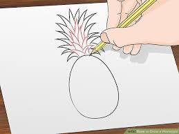 pineapple drawing. image titled draw a pineapple step 4 drawing