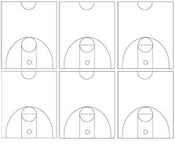 Basketball Court Diagrams Printable Templates Dimensions