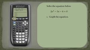 how to solve a quadratic equation using ti84 you