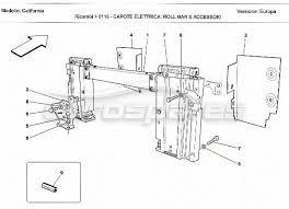 ferrari california > electrical ignition order online eurospares ferrari california electrical capote roll bar and accessories diagram