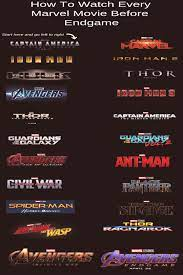 How To Watch Every Marvel Movie Before Endgame, Marvel Movies in order, Marvel  Movies chronological