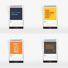desk calendar 2018 with motivational inspirational es