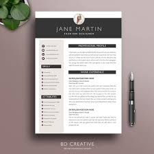 Modern Creative Resume Template Professional Resume Template 21 Modern Creative Boutique Style Cv 3 Page Resume Cover Letter Instant Download Ms Word