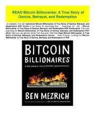 Click button below to download your free copy of… bitcoin billionaires: Read Bitcoin Billionaires A True Story Of Genius Betrayal And By Claudiasafdgsesa123 Issuu