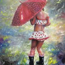 rain girl art print children s wall art girls room red umbrel on girl with umbrella wall art with best red umbrella wall art products on wanelo