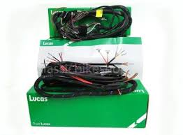 classicbikeshop main wiring harness cloth bsa lucas main wiring harness as fitted to norton twins alternator coil ignition 1958 63