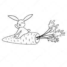 ニンジンのかわいいウサギ ストックベクター Balakoboz 44949763