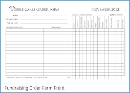 Fundraising Order Form Templates Fundraiser Order Templates Free Sample Example For Form