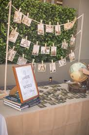 Passport + Entrance Table from a Vintage Travel Bar Mitzvah Party via  Kara's Party Ideas -