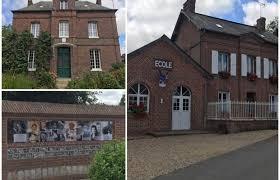 la maison de famille de bourvil son école et un monument à sa mémoire à