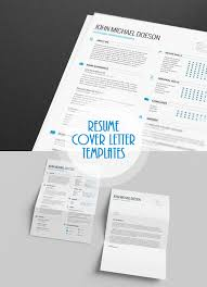 Free Cover Letter And Resume Templates Classy Free Minimalistic CVResume Templates With Cover Letter Template