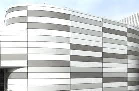 and exterior aluminum wall cladding