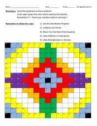 solving equations 3 color design