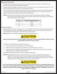 Bearing Damage Chart Lippert Components Trailer Axle Standard User Manual