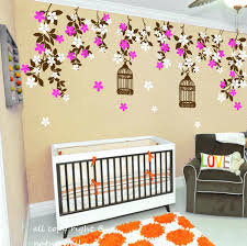 baby girl nursery tree wall decals cherry blossom tree decal elegant ...