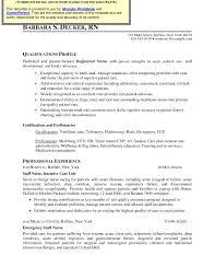 Nursing Resume Free Nurse Examples Curriculum Vitae Template