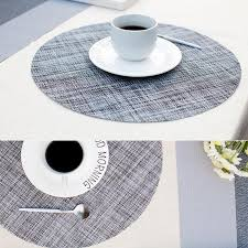 2019 pvc round dining table mat heat insulation non slip placemats disc bowl tableware pads coaster kitchen supplies new placemat pad from waxer