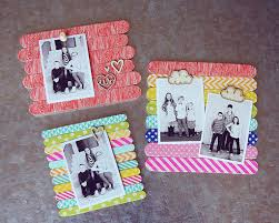 popsicle stick photo frames
