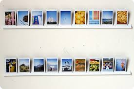 This a great way to display a lot of photos in your house without having to