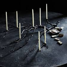 Spooky candelabra makes the perfect centerpiece.