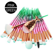 <b>21pcs</b> Mermaid Diamond <b>Makeup Brush</b> Set | Shopee Singapore