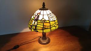 Tiffany Lamp Replica Golf Themed Secondhand Pursuit