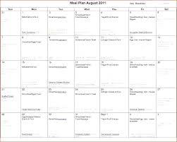Excel Weekly Meal Planner Excel Menu Planner Monthly Meal Planner Template Excel Meal Plan
