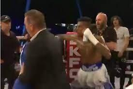 Blueface Punches Fan Who Rushed Boxing ...