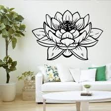 Yoga Studio Meditatie Vinyl Muurstickers Decor Lotus Bloem Boeddha