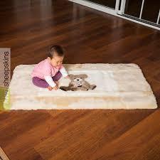 auskin sheepskin play rug