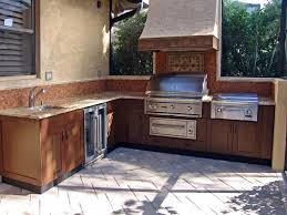 Simple Outdoor Kitchen Simple Outdoor Kitchen Ideas Wood Grained Powder Coated Stainless