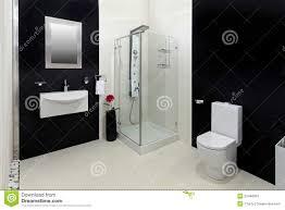 Black And White Bathroom Black And White Bathroom Stock Photos Image 12750673