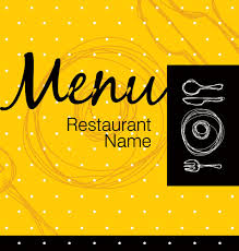 Restaurant Menu Cover Background Vector 05 For Free Download