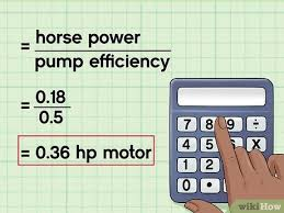 Submersible Well Pump Sizing Chart How To Calculate Water Pump Horsepower 14 Steps With Pictures