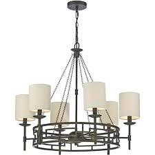6 light chandelier meval inspired 6 light chandelier with linen shades holman bronze 6 light chandelier