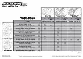 Chart Cart On Wheels Slash Vxl 58076 21 Tire Chart Traxxas