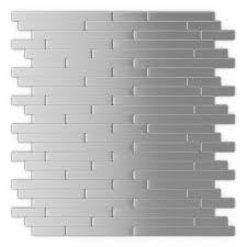 inoxia sdtiles linox stainless steel 12 09 in x 11 97 in x 5 mm brushed