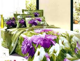 flower bed sheets flower bed set purple green flower fl bedding comforter set queen size bedspread flower bed sheets luxury big purple
