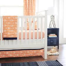 arrow crib skirt  white crib skirt  orange crib skirt