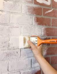 diy faux brick wall indoor accent wall