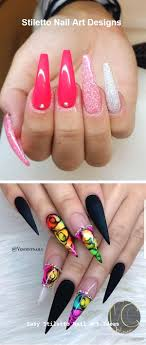 30 Great Stiletto Nail Art Design Ideas Nail Naildesigns Nehty V