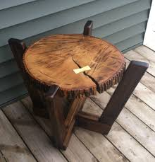 apartments log coffee table with a dutchman wood joint hupehome outdoor coffee tables ideas