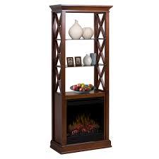 seabert walnut electric fireplace etagere gds20 1370wn