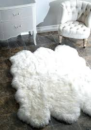 outstanding faux fur area rug sheepskin rugs full image for flower shaped large round black furry image of faux fur area rug