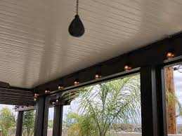 How To Hang String Lights On Aluminum Patio Cover Pinterest