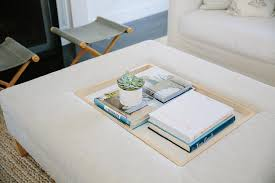 White leather coffee tables Sectional Ottoman Coffee Table With Recessed Tray Decorpad Ottoman Coffee Table With Recessed Tray Transitional Living Room