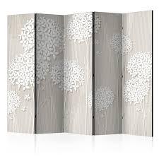 Details Zu Deko Paravent Raumteiler Trennwand Spanische Wand Blumen Holz Optik 2 Formate