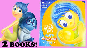 inside out book characters and stickers joy bing bong fear rainbow unicorn disney pixar
