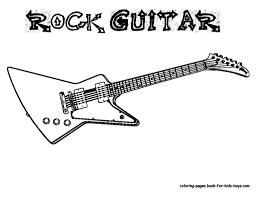 cool electric guitar coloring pages book for boys bebo pandco colouring book