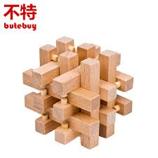 Wooden Games For Adults Unlocking ring Wooden Puzzle IQ Mind Brain Teaser Puzzles Game for 75
